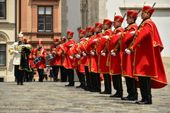 Changing of Guards at St Mark`s Square in Zagreb, Croatia Stock Images