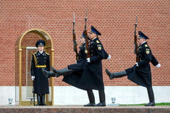 Changing of the Honor Guard Ceremony at the Tomb of the Unknown Stock Photography