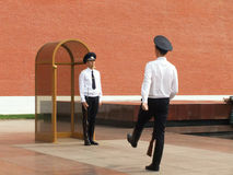 Changing of the Honor Guard Ceremony, Tomb of the Unknown Soldie Royalty Free Stock Image