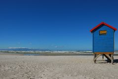 Changing hut at Muizenberg Beach (South Africa). Changing hut for bathers on the beach at Muizenberg (South Africa Royalty Free Stock Photography