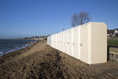 Changing Huts, Chalkwell, Essex, England Stock Photography