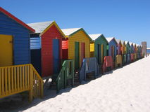 Changing huts at Muizenberg Royalty Free Stock Photography