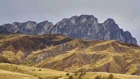 Changing light in the Pyrénées. Mountain ranges on the border of France and Spain in the Pyrénées Stock Images