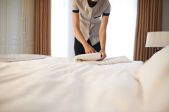 Changing linen Royalty Free Stock Images