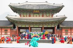 Free Changing Of The Guard At Gyeongbokgung Palace Stock Images - 122217414