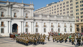 Changing Of The Guard, Santiago, Chile Stock Images