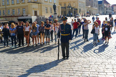 Changing of the presidential guards Royalty Free Stock Images