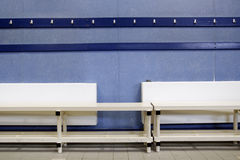 Changing Room. A clean and empty changing room Royalty Free Stock Photos