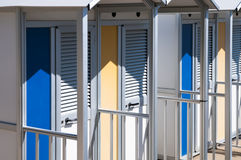 Changing Room on the Beach Stock Photography