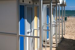Changing Room on the Beach Royalty Free Stock Photo
