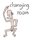 Changing room message Stock Image