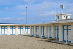 Changing-rooms for the beach Royalty Free Stock Photos