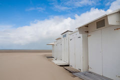Changing rooms at the beach Stock Image