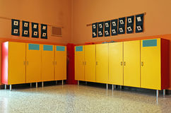 Changing rooms and lockers of kindergarten Royalty Free Stock Image