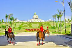 Changing of royal guard  at national palace Stock Photos