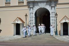 Changing of the Royal guard in progress at the Royal Castle Royalty Free Stock Images