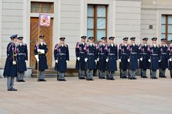 Changing the Royal guards at Prague Castle Stock Photography