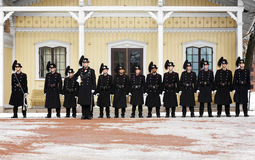 Changing of Royal Guards at the Royal Palace, Oslo Royalty Free Stock Photo