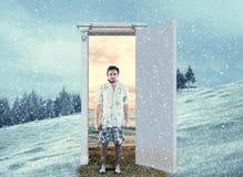 Changing season through the door
