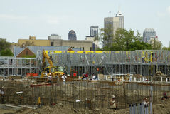 Changing Skyline. Construction site of apartment buildings in an urban setting Stock Photography