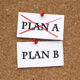 Changing Strategy. Plan a or plan b Royalty Free Stock Image