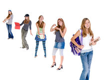 Changing Teenagers Royalty Free Stock Images