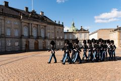 Changing The Guard In Copenaghen Stock Photos