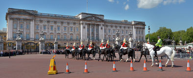 Changing The Guards Ceremony At Buckingham Palace London UK Royalty Free Stock Photos