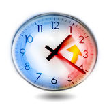 Changing time on the clock Stock Photos