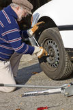Changing tire Royalty Free Stock Photo