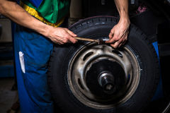 Changing tires Royalty Free Stock Photos