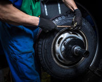 Changing tires Stock Photography