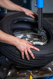 Changing tires Stock Image