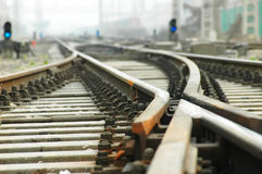 Changing tracks Stock Image