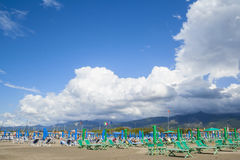 Changing weather on the beach Royalty Free Stock Photography