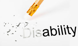 Changing the word disability to ability. Royalty Free Stock Photo