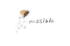 Changing  the word impossible to possible. Royalty Free Stock Photo