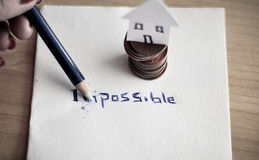 Changing the word impossible to possible Royalty Free Stock Image