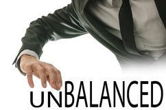 Changing word Unbalanced into word Balanced Stock Image
