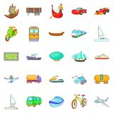 Changing world icons set, cartoon style. Changing world icons set. Cartoon set of 25 changing world vector icons for web isolated on white background Royalty Free Stock Photo