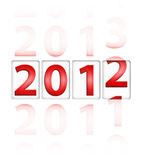 Changing year from 2011 to 2012. (New Year concept vector illustration