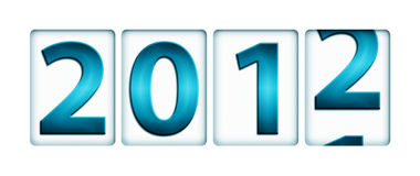 Changing year from 2011 to 2012. (New Year concept Stock Image