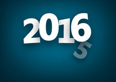 Changing 2016 year. Changing 2015 to 2016 new year paper sign. Vector background Stock Images