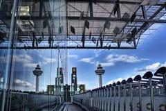 机场changi新加坡t3 免版税库存照片