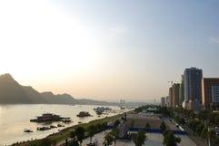 Changjiang河堤坝 免版税库存图片