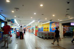 Changsha china: carrefour supermarket Stock Photo