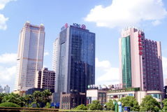 Changsha china: city building scenery. In August 4th 2013, Hunan, Changsha five one avenue, city building scenery Stock Photography