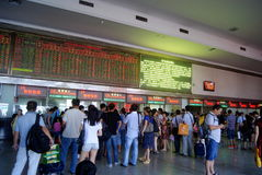 Changsha china: the train station ticket office Stock Photo