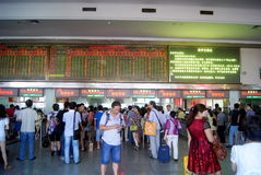 Changsha china: the train station ticket office Royalty Free Stock Photography