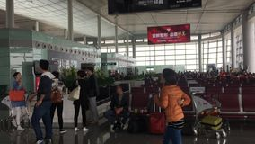 Changsha International Airport. Many people waiting at the boarding gates in Changsha International Airport. Changsha Airport is the largest airport located in stock video